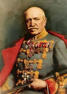 Figure 7: Feldmarschalleutnant Geza Lukacich von Somorja wearing the Red Cross Decoration, Officer Cross. Image from the author's archive.