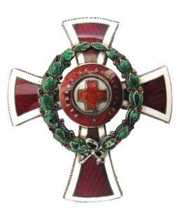 Figure 1: Red Cross Officer Decoration, obverse. Image courtesy of Dorotheum.