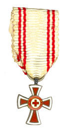 Figure 15: Red Cross Decoration,second class, miniature. Image form the author's archive.