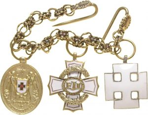 Figure 14: Miniature group of 3 including the Bronze Red Cross Merit Medal. Image courtesy of Dorotheum