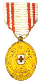 Figure 15: Red Cross Bronze Merit Medal miniature. Image from the author's archive.