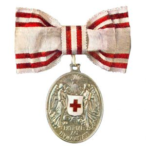 Figure I: Red Cross Silver Honor Medal on Bow. Image from the author's archive.