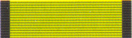 Figure 4: Olmutz Military Medal ribbon as reported by Hessenthal and Schreiber. Image from the author's archive