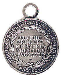 Figure 3: Military Merit Medal for the Tyrolean Mobilization, reverse. Image from the author's archive.