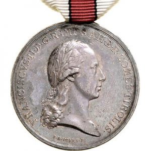 Figure 1: Military Merit Medal for the Tyrolean Mobilization, obverse. Image courtesy of Dorotheum.