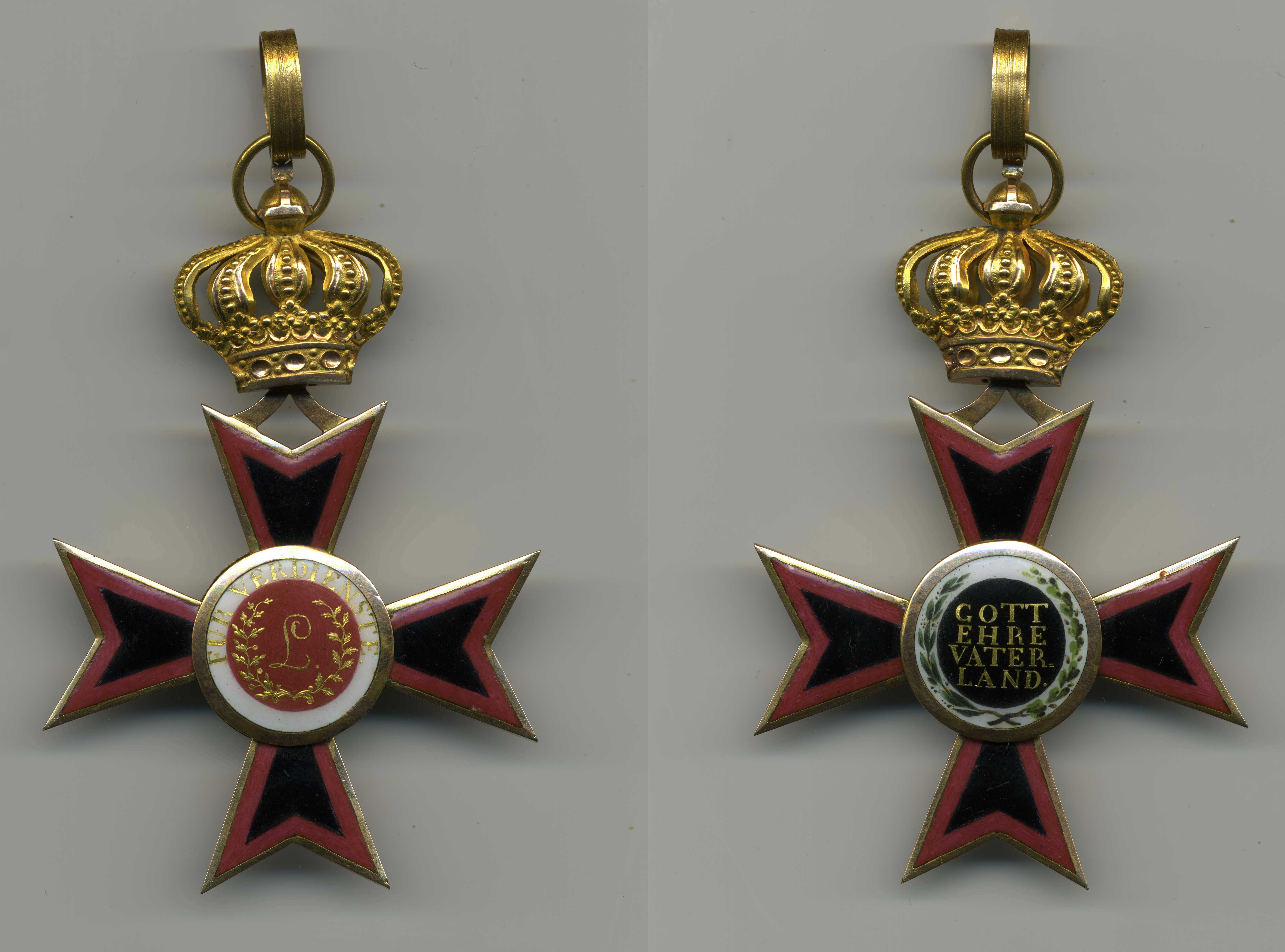 Ludwig Order -Commander Cross from 1840th, avers and revers