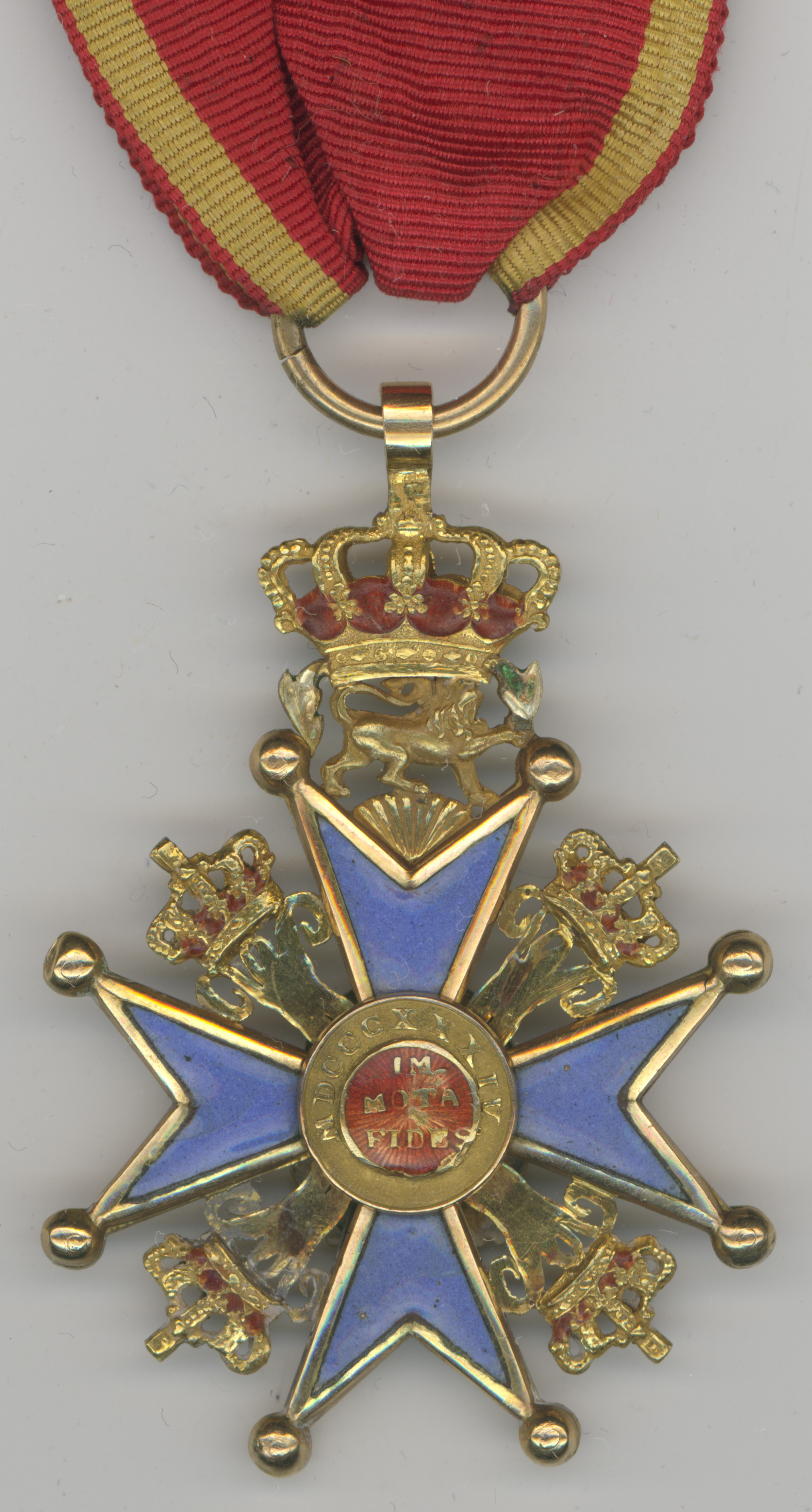 Fig 2: Brunswick Knight Cross 1st Class, 1st Model, revers
